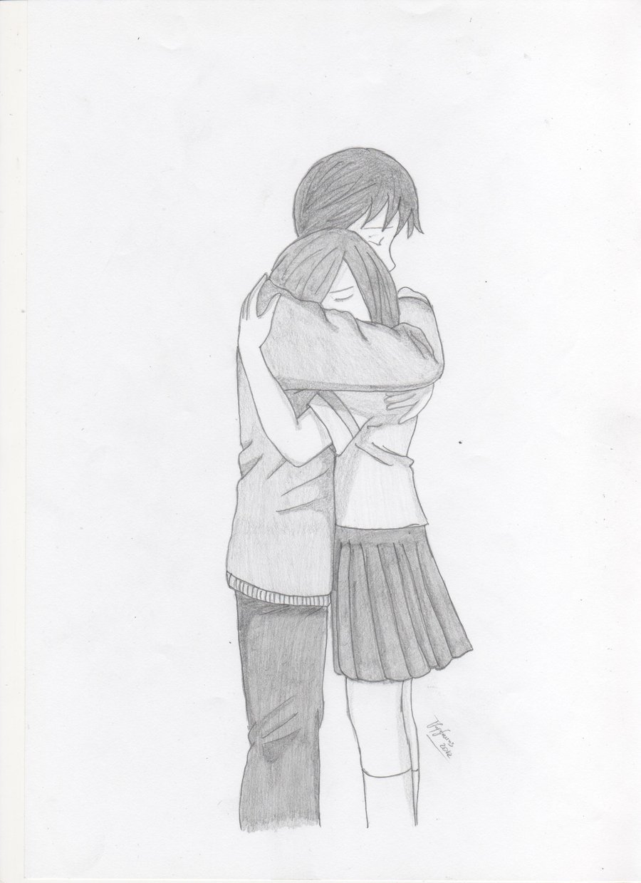 Anime couple sketches in pencil 25869showing drawing art l