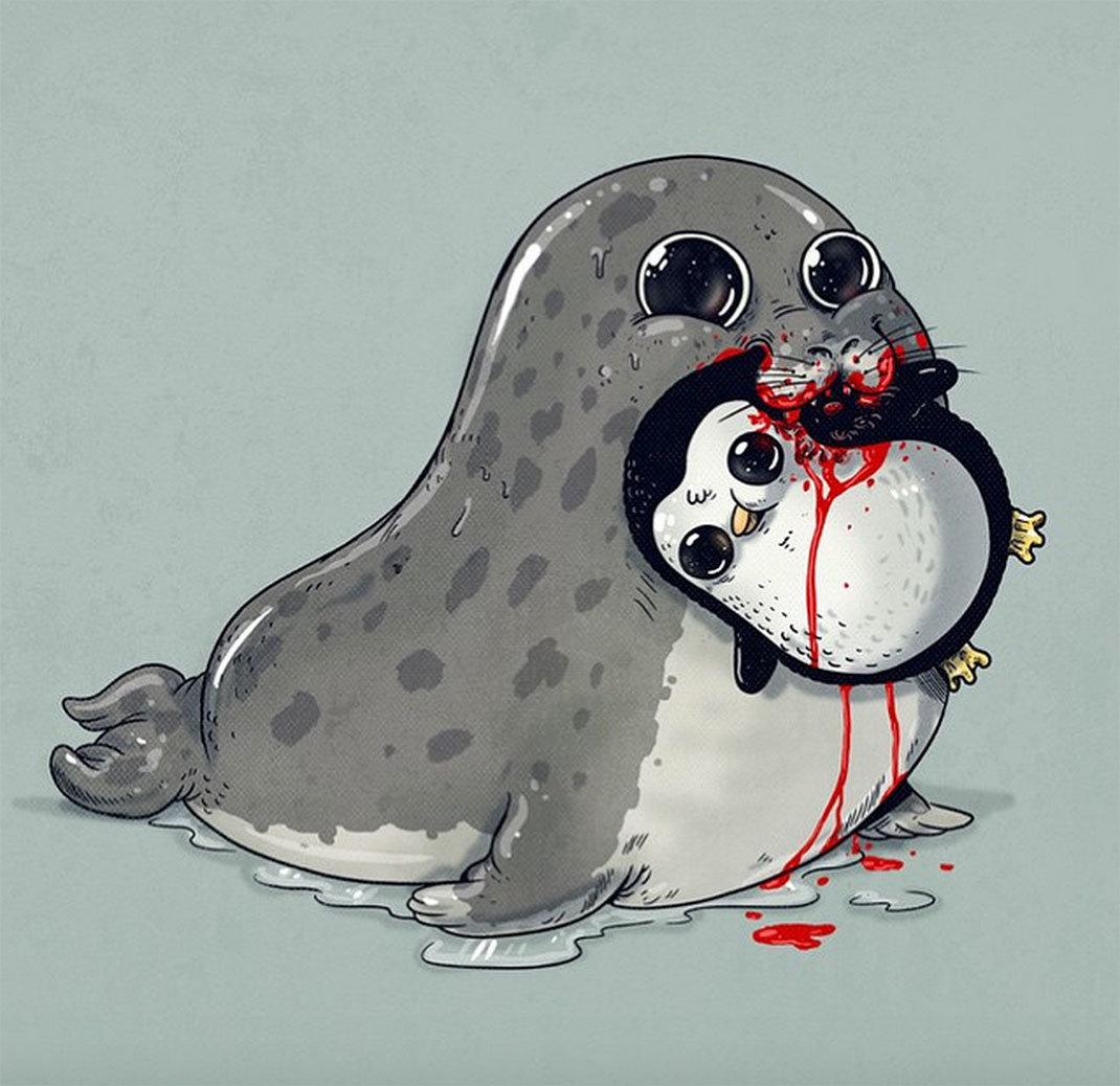 Картинки для срисовки и прикольные няшные животные, картинки марта