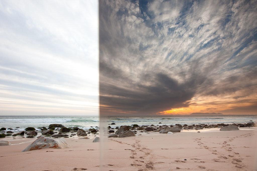 градиентный фильтр примеры фото основные
