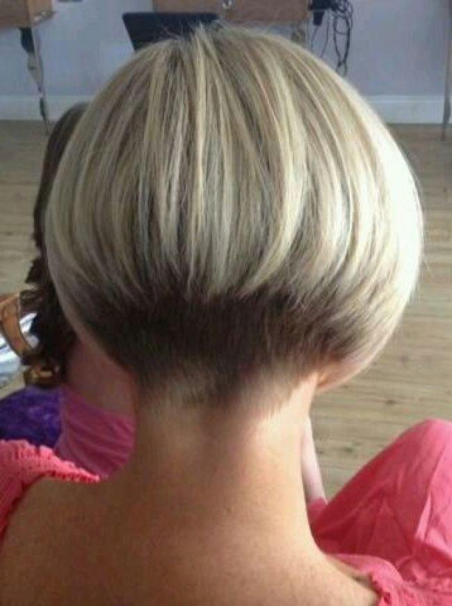 Bob Haircut Shaved Nape Haircuts Models Ideas Card From User
