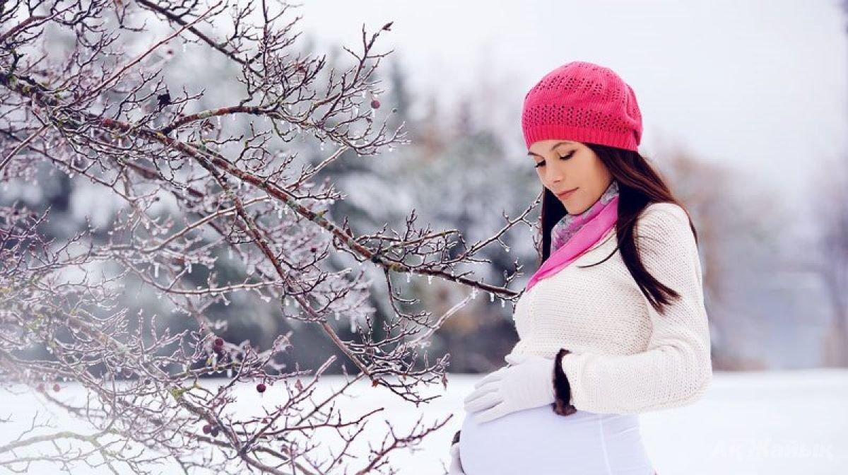 Беременность зима картинки