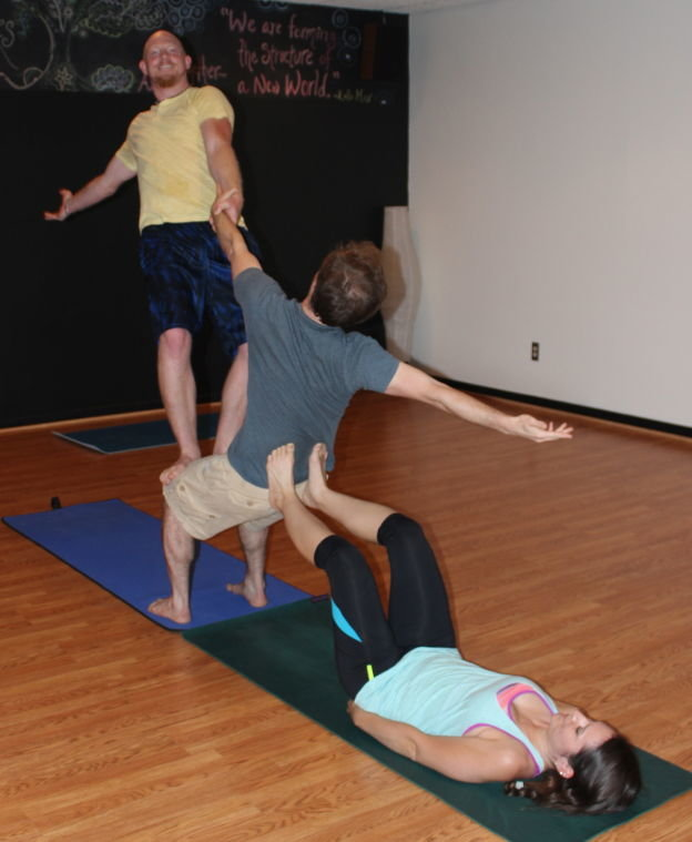 three person yoga challenge bing images card from user