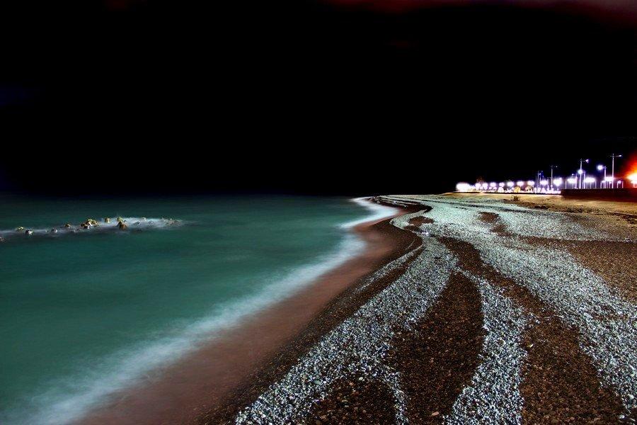 Фото моря ночью сочи