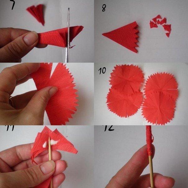 конструкции как сделать гвоздику из салфетки для открытки домик музей