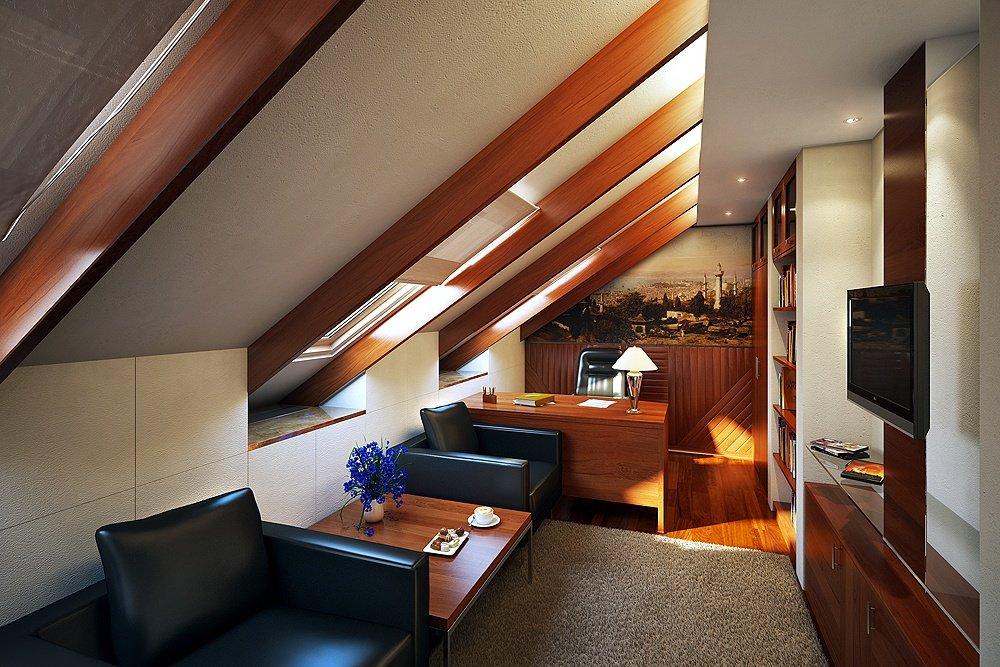 Фото отделки мансарды в частном доме
