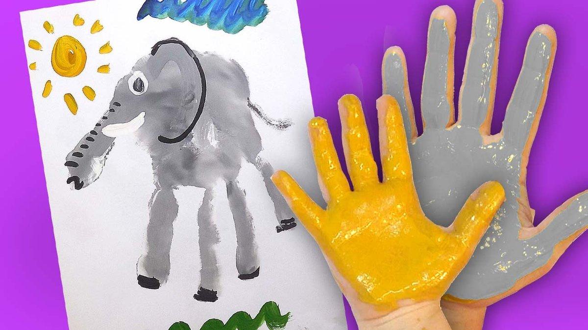 Картинки из детских ладошек красками