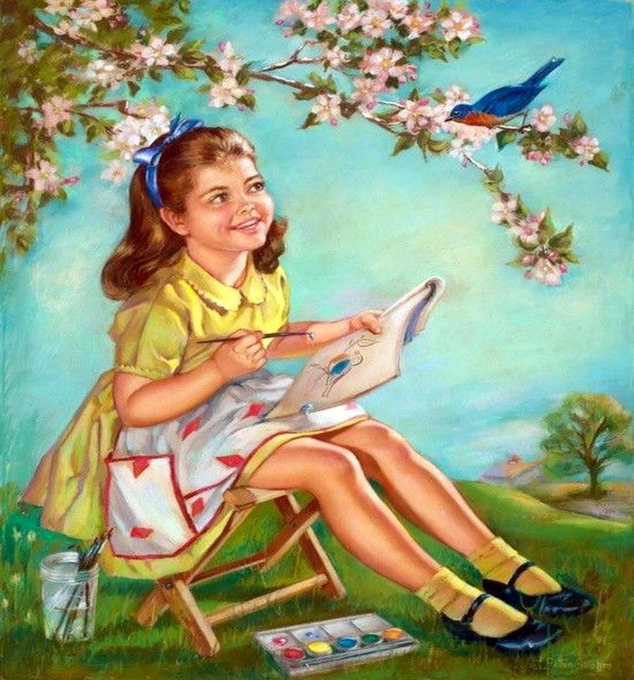 Картинки художники рисуют детские