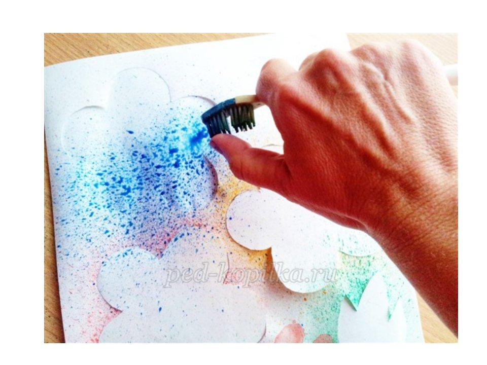 Как покрасить открытку