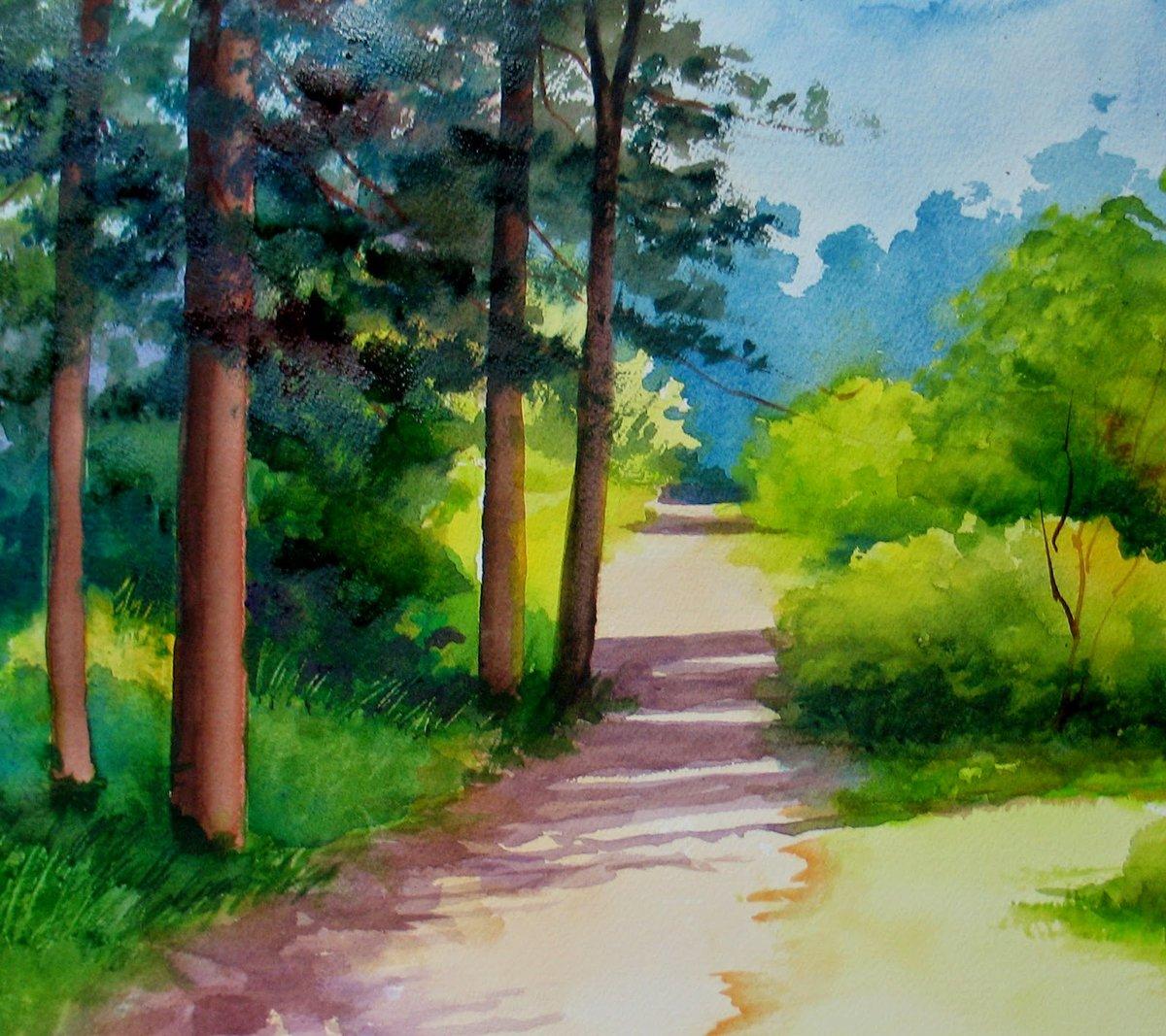 картинки пейзажа рисовать легко видео урок