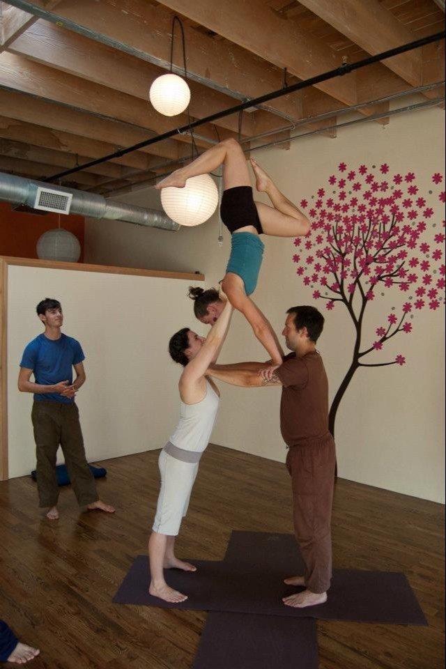 yoga poses for three people 4 jpg yoga poses asana yogap card