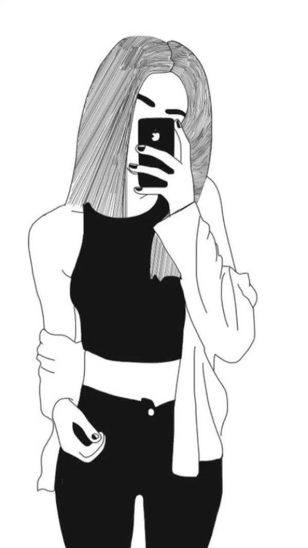 Картинки девушек карандашом с айфона