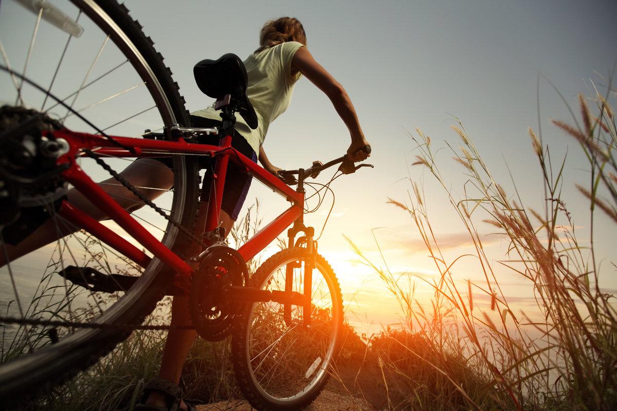 Картинки на велосипеде красивые, смешные парашютист