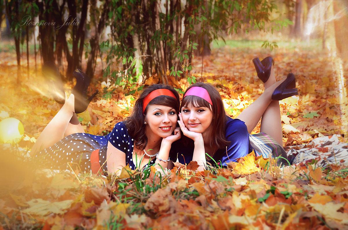 Осенняя фотосессия с подругой фото идеи
