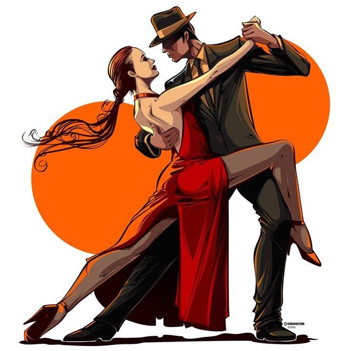 Спасибо что, танцующие пары картинки рисунки