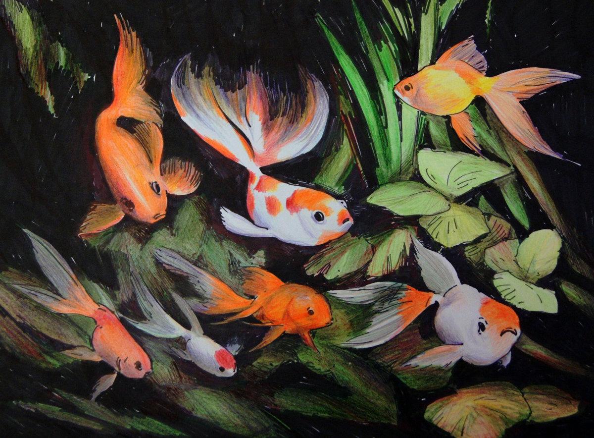 чтение рисунок рыб в аквариуме красками одно самых популярных