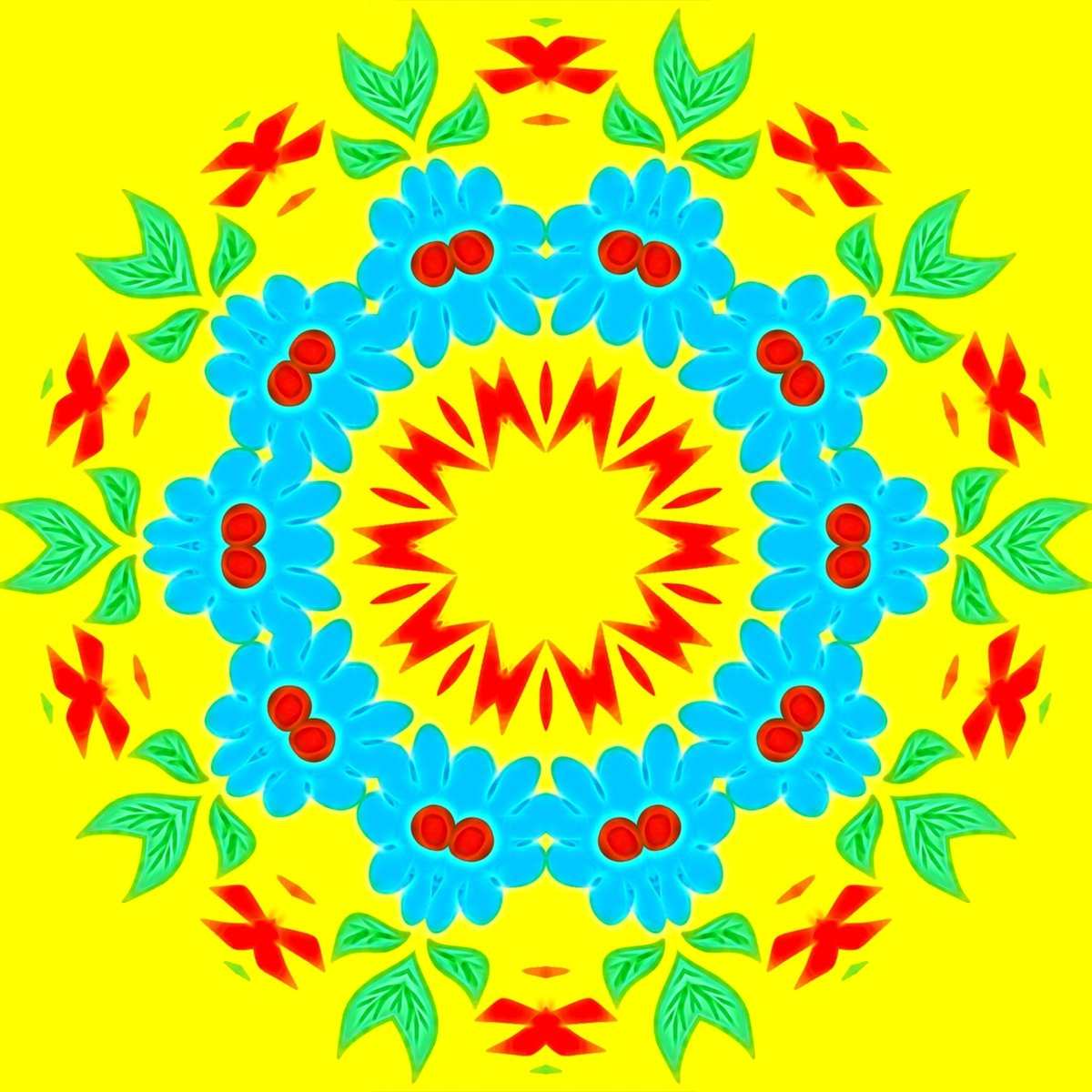 Паттерны и бесшовные текстуры бесплатно / Patterns and seamless textures for free, p_i_r_a_n_y_a - Бесшовная фактура - Незабудки (круги)