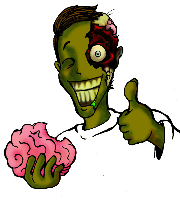 Веселые зомби картинки, открытка
