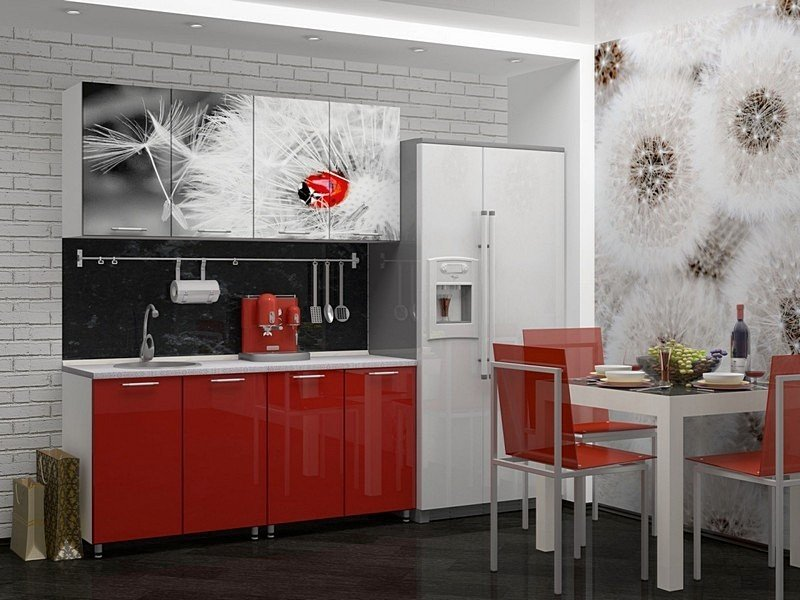 Рисовать прикольные, картинки на фасадах кухни