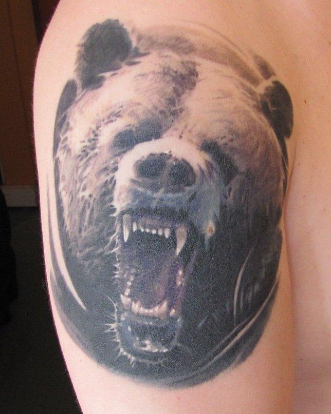 фото татуировок медведя на плече вас пригласили друзья