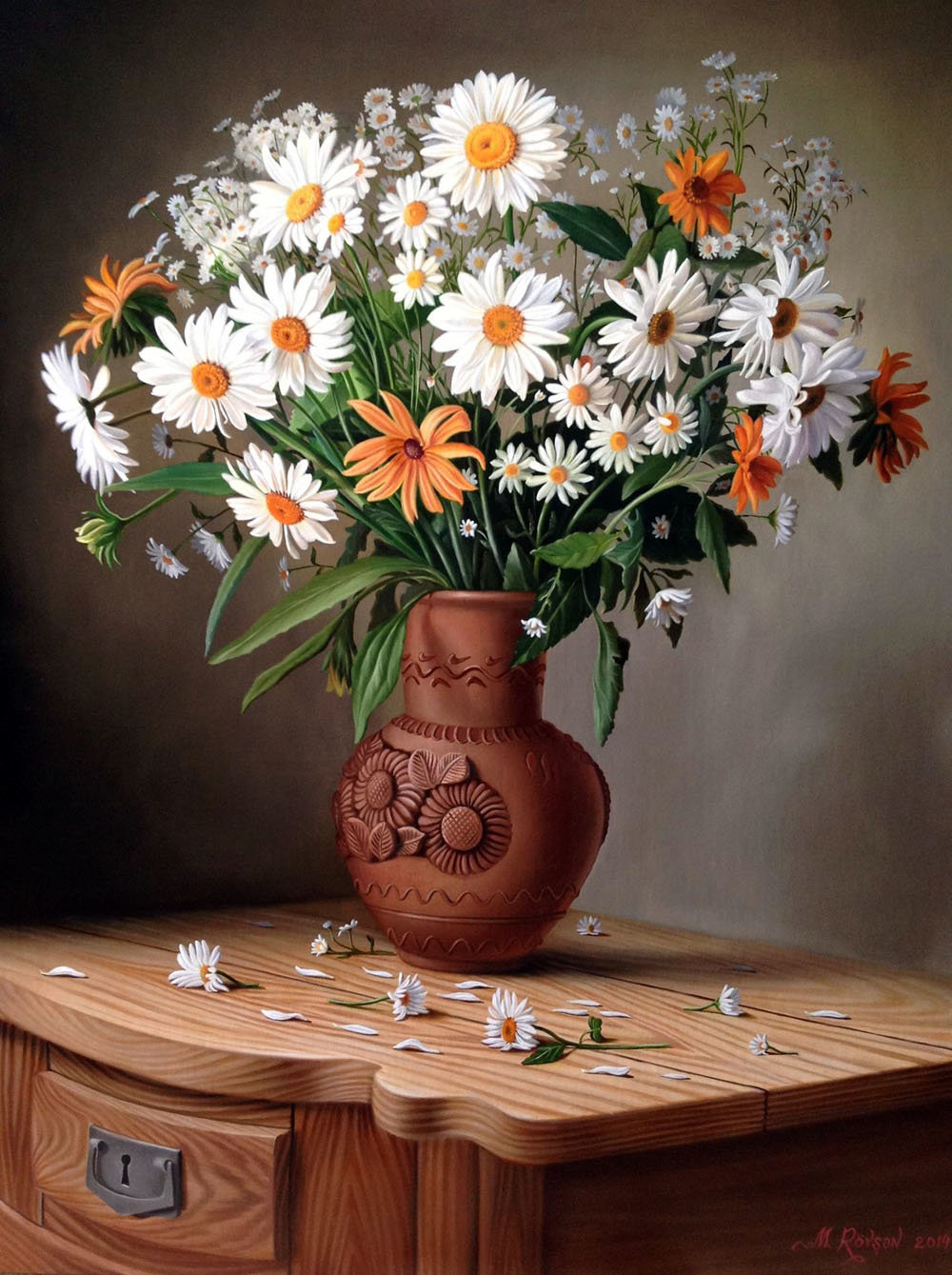 вероятно, картинки с цветами ромашки в вазе лотяну