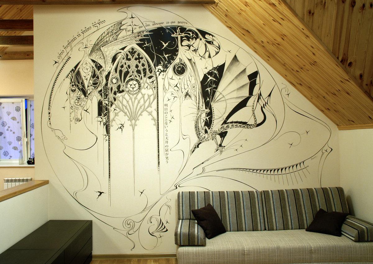красивые рисунки на стену дома каких обстоятельствах