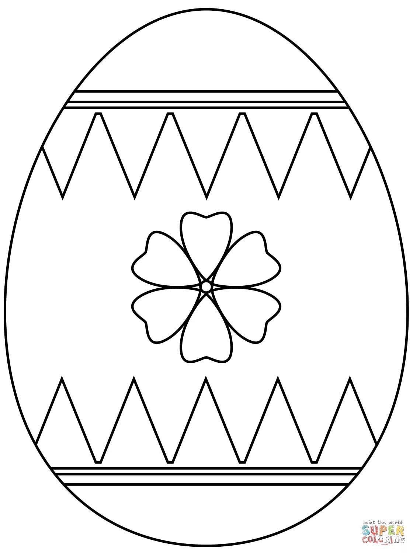 «Раскраска Пасхальное яйцо с цветочком Раскраски для детей ...