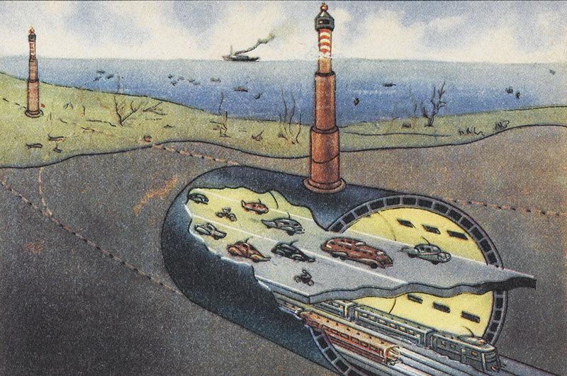 Проект тоннеля под Ла-Маншем, ок. 1960 года