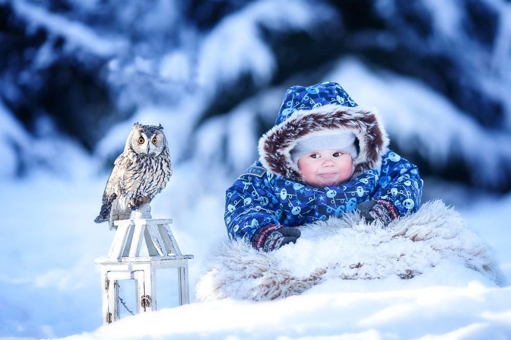 Открытка внучке, детские зимние картинки доброе утро