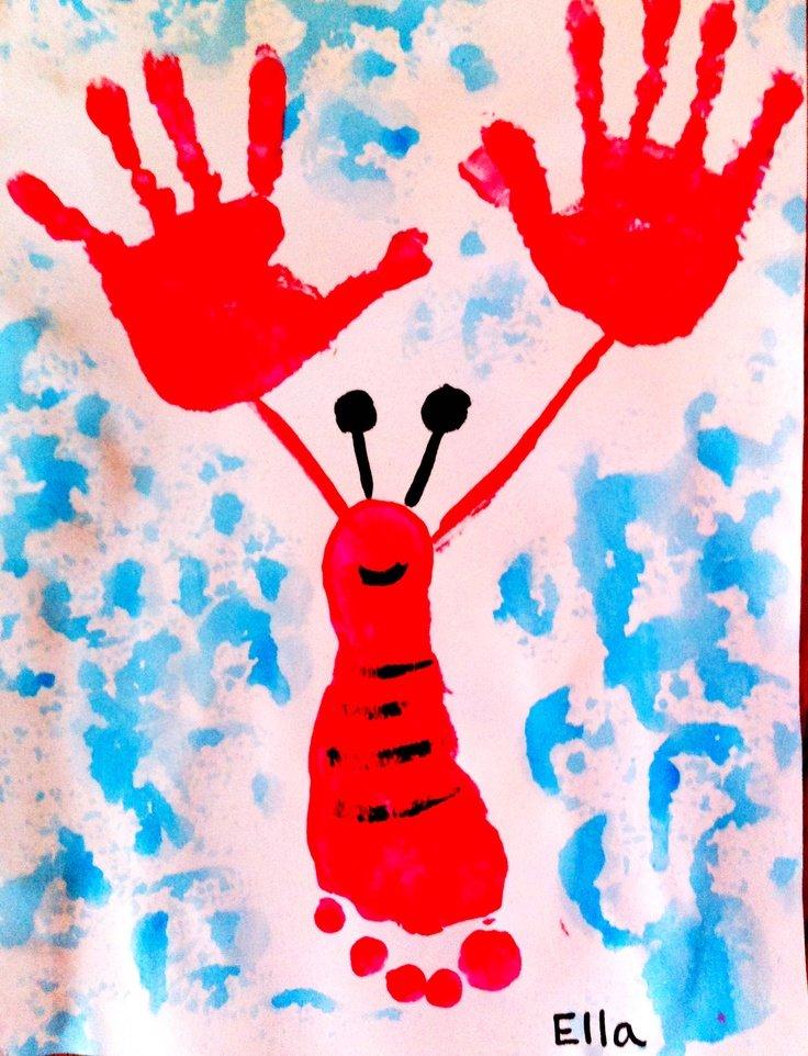 День матери, рисуем ладошками картинки для самых маленьких