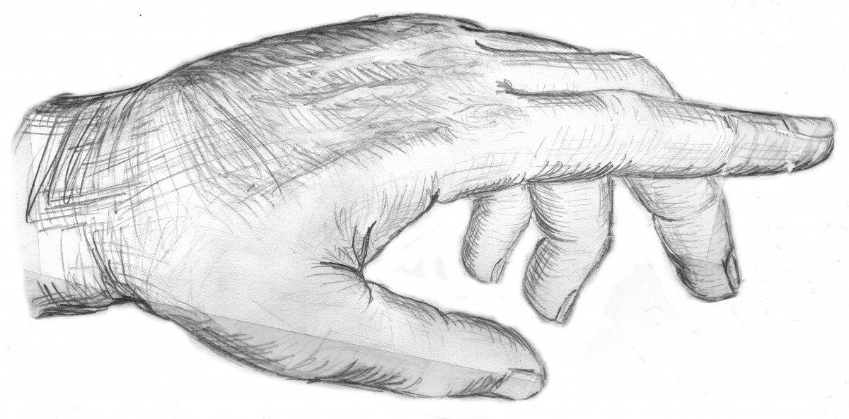 Картинки рук простым карандашом