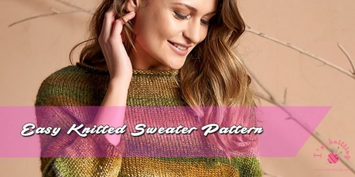 Easy Knitted Sweater Pattern Beginner Sweater Knitting Pattern Free