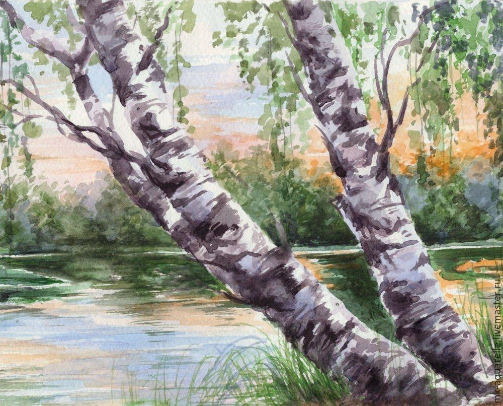 слов природа россии рисунок гуашью краска имеет