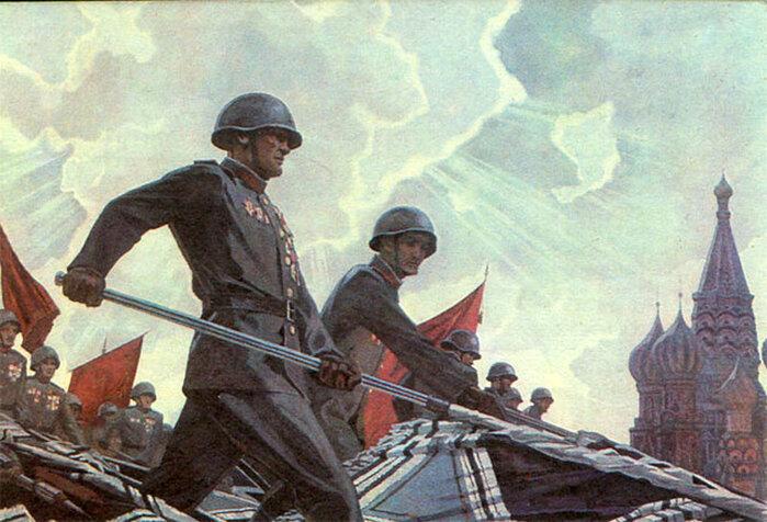 Открытка парад победы, картинки