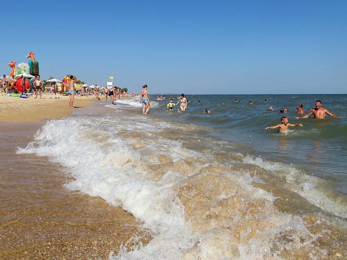Голубицкая на азовском море фото пляжа