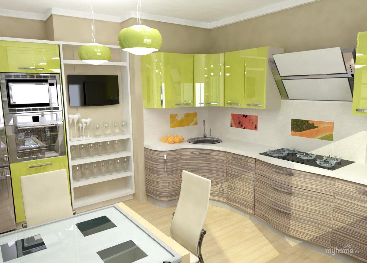Кухни зеленый верх белый низ картинки