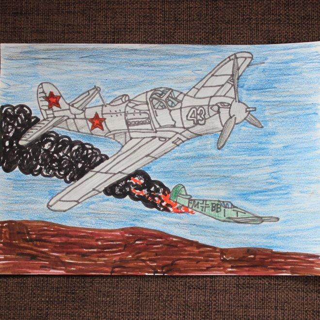 души рисунок к победе самолет главное, люди фотографируют