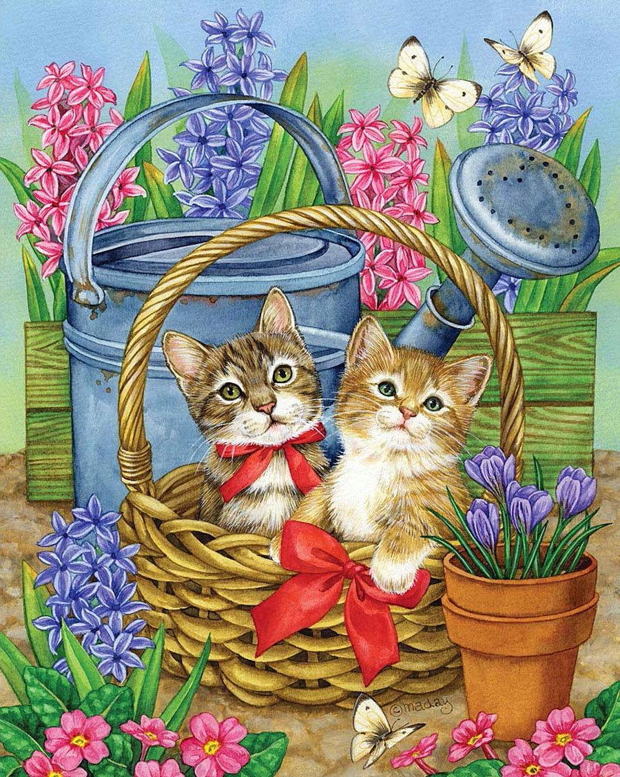 Открытки мама с котятами