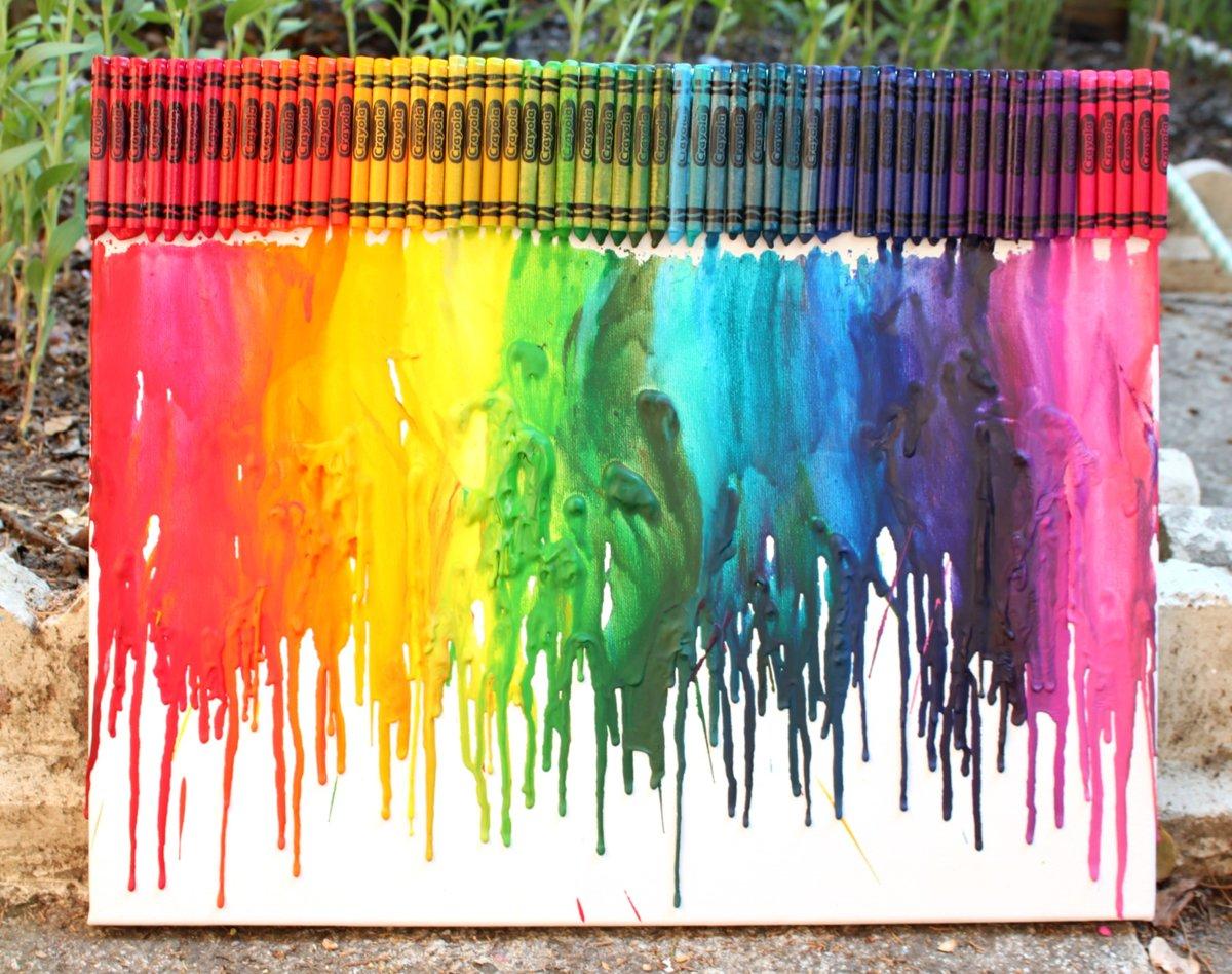 Картинки из восковых карандашей