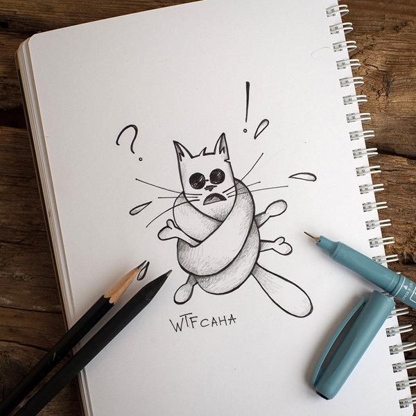 Прикольные рисунки карандашом для скетчбука