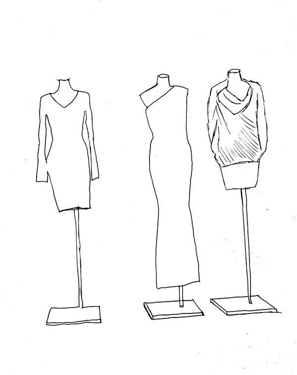 многих картинки манекены с одеждой рисунок воспроизведение