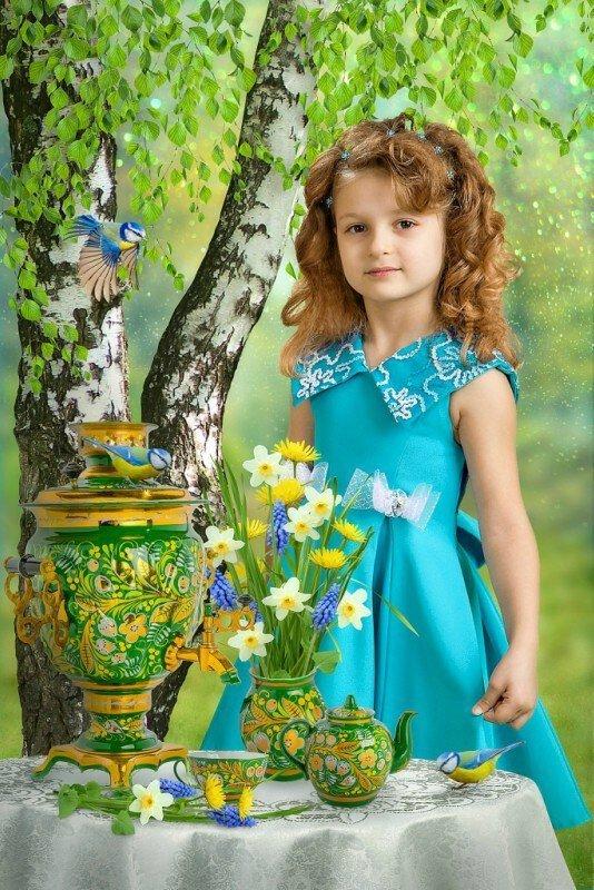 фотомонтаж весна природа золотой