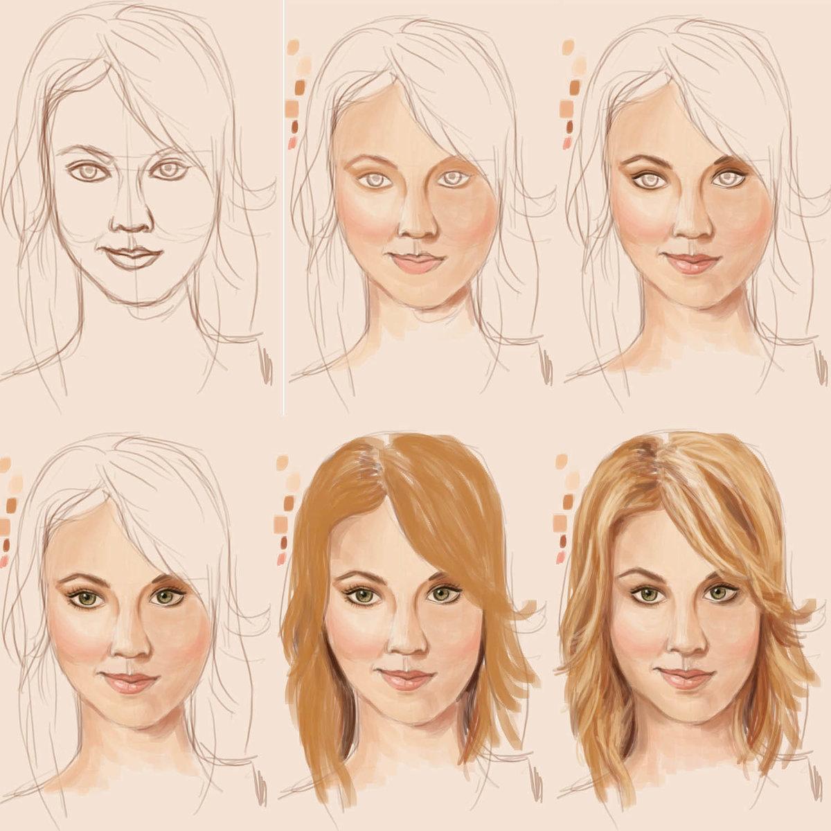 картинки как рисовать людей портрет поэтапно них жадно ждали