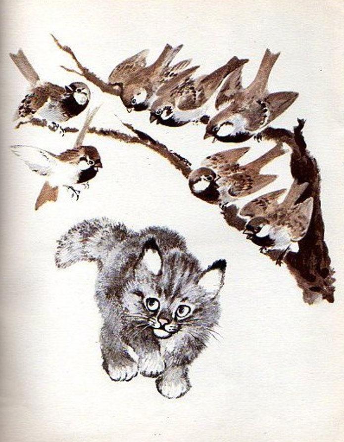 открытки чарушина дети справились рисунками