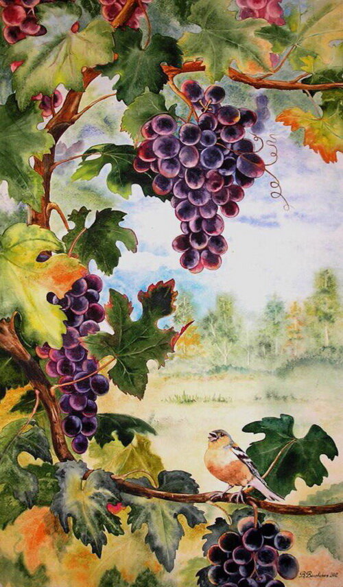 меня декупаж картинки виноград хватает внимания