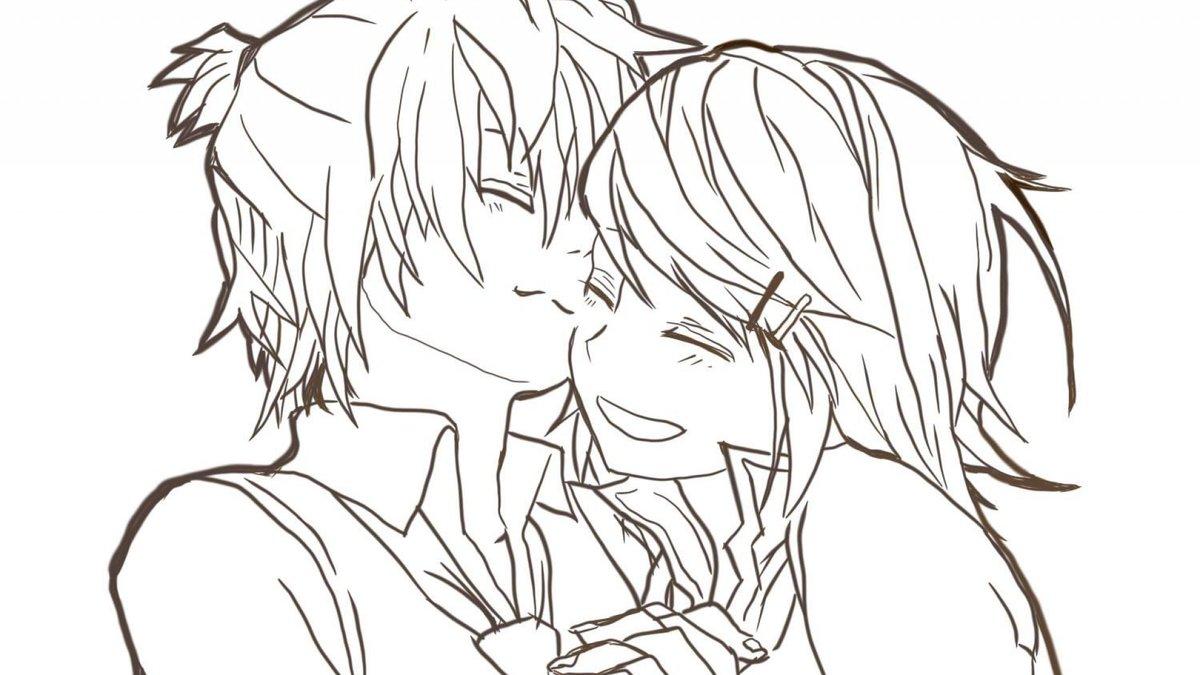 Картинки аниме для срисовки парни и девушки