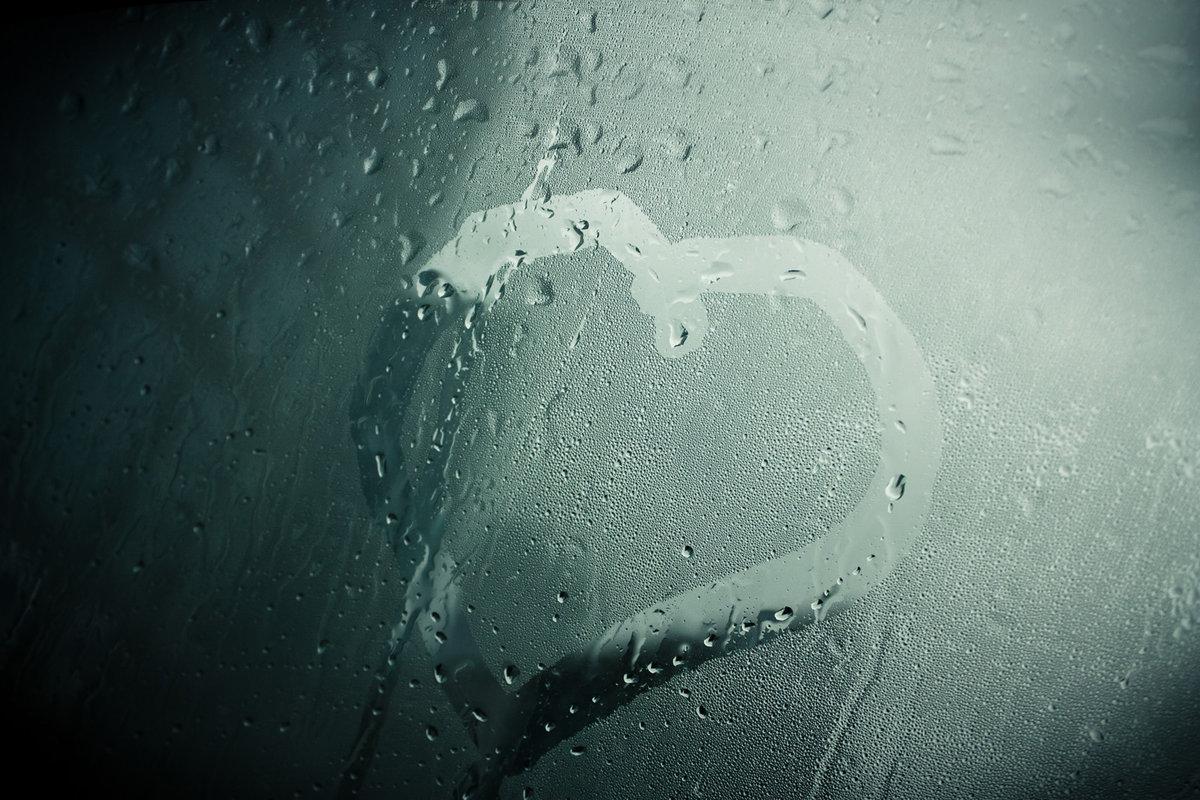Картинки сердце с дождем