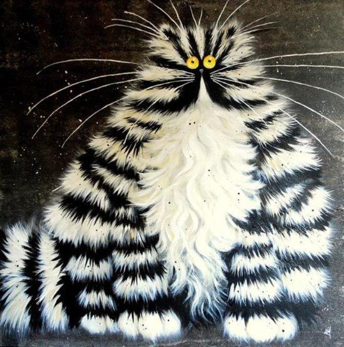 Коты нарисованные картинки