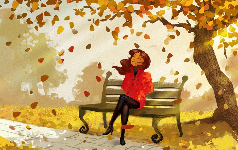 Картинки контр, прикольные рисунки на тему осень