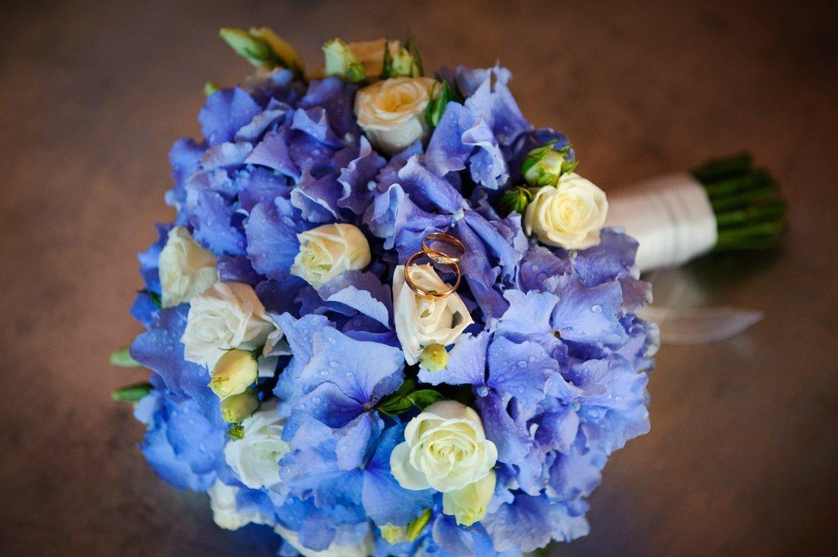 Оптом раменское, букет невесты синий или голубой