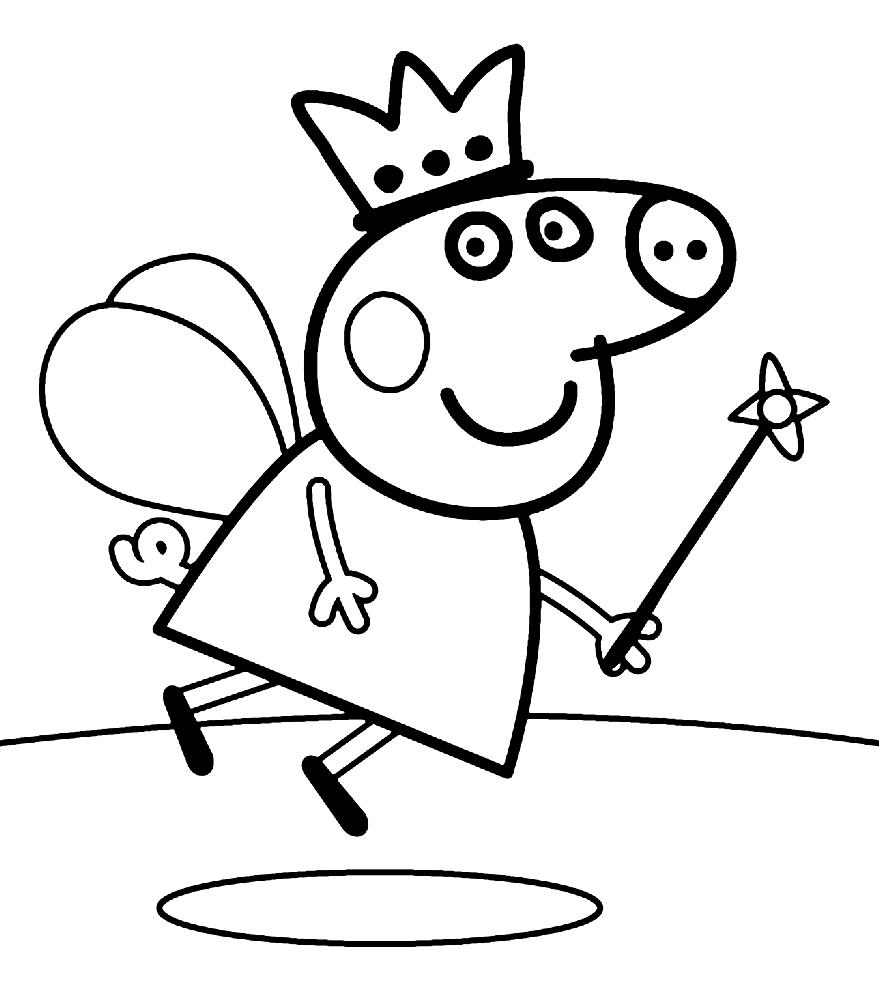 «Раскраска Свинка Пеппа волшебная фея» — карточка ...
